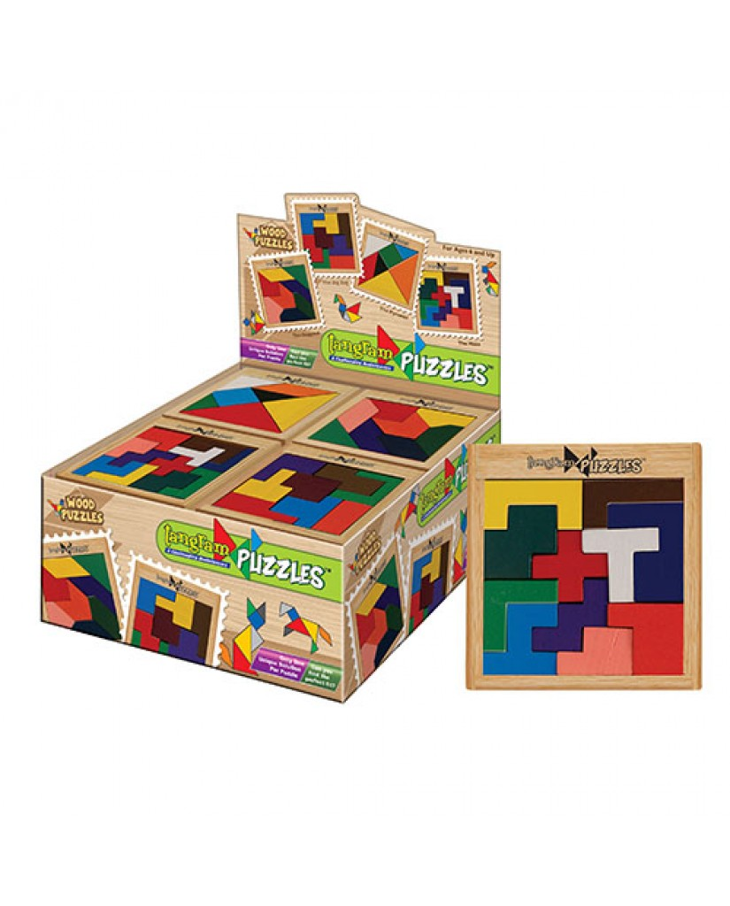 """3.75"""" Tangram Wooden Puzzles"""