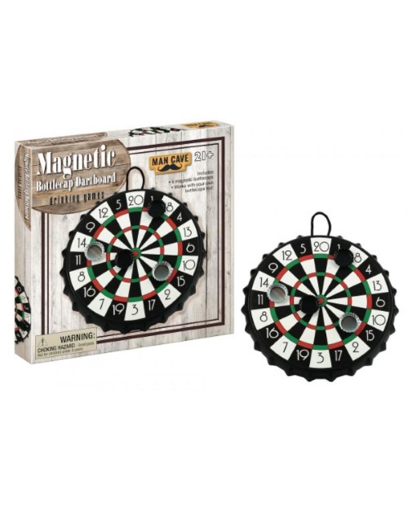 Magnetic Bottlecap Dartboard