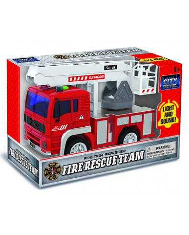 "7"" Light & Sound Friction Fire Truck"