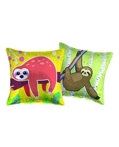"16"" Sloth Reversible Sequin Pillow"