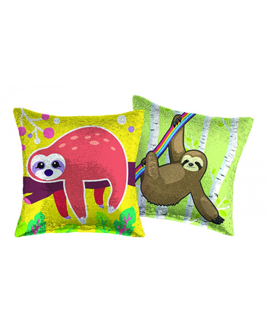 "16"" Sloth Reversible Sequin Pillow"
