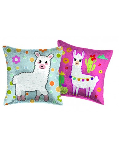 "16"" Llama Reversible Sequin Pillow"