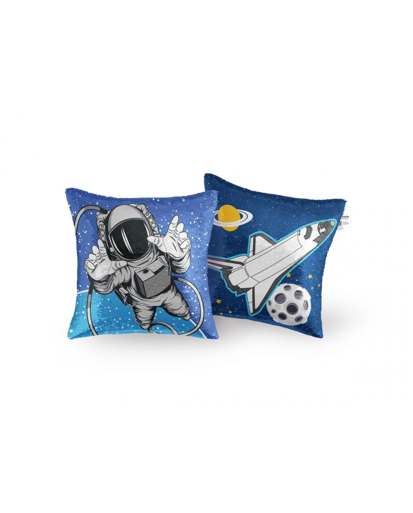 "16"" Astronaut Reversible Sequin Pillow"