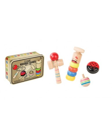 Wooden Games in a Tin