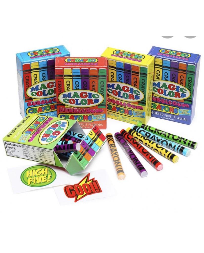 Magic Colors Bubble Gum Crayons