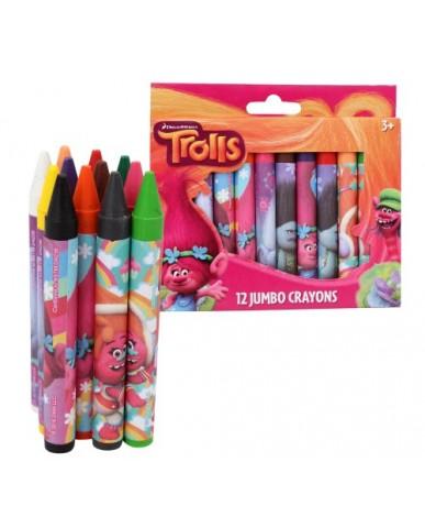 12-ct Trolls Jumbo Crayons