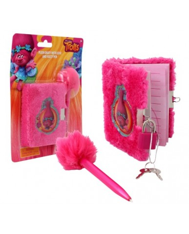 Trolls Mini Locking Diary with Pen