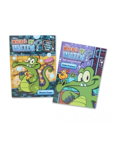 96-pg Where's My Water Gator Coloring Book