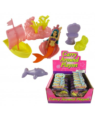 "7"" Mermaid Play Set with Carry Case"