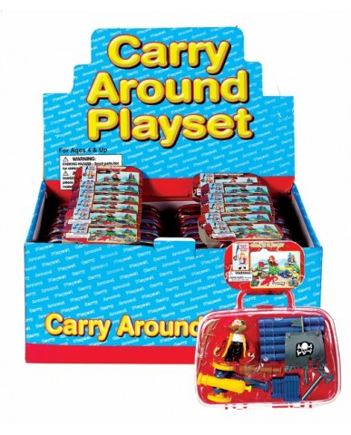 """7"""" Pirate Play Set with Carry Case"""