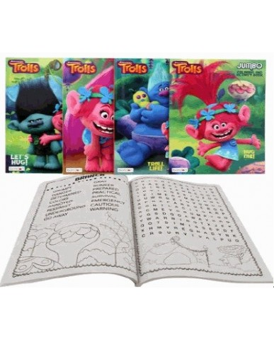 96-Page Trolls Activity and Coloring Book