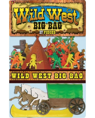 "37-pc. ""Big Bag"" Wild West Play Set"