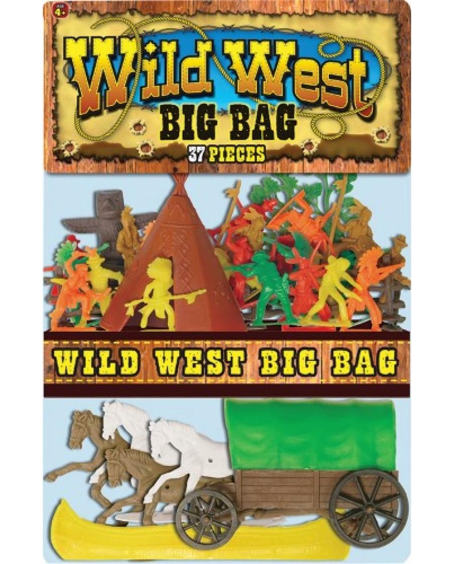 "37-pc. ""Big Bag"" Wild West Play Set"