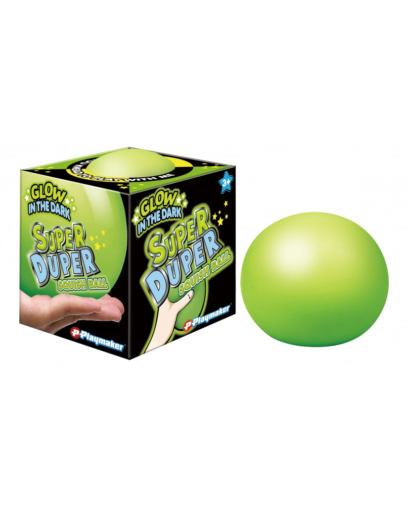 "4"" Super Duper GLOW IN THE DARK Squish Dough Ball"