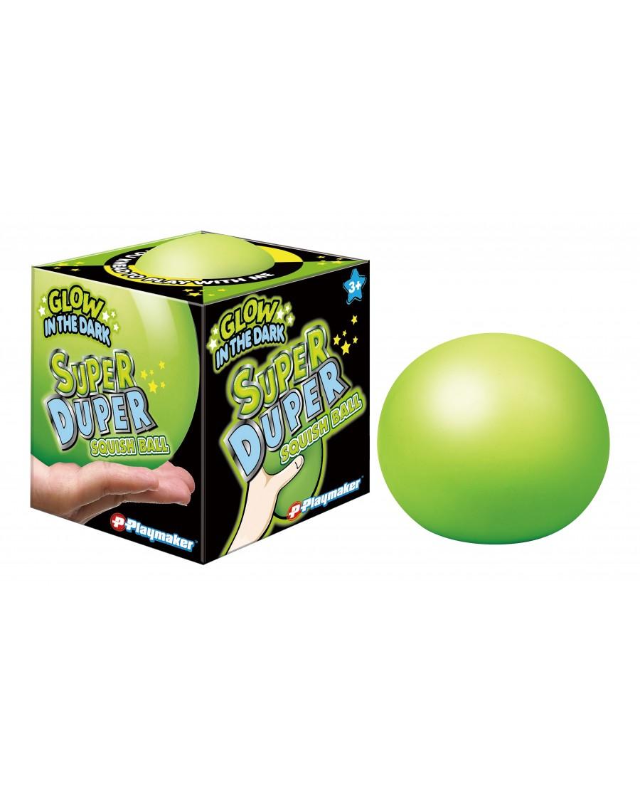 """4"""" Super Duper GLOW IN THE DARK Squish Dough Ball"""