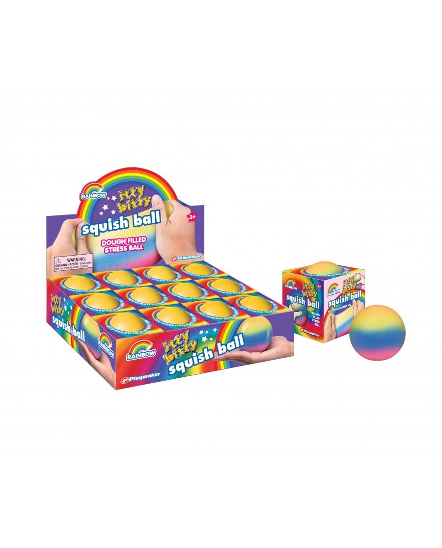 """2.5"""" Itty Bitty Rainbow Squish Ball"""