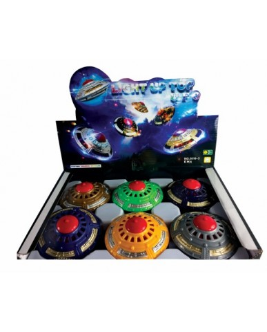 "4"" Light-Up Balancing Flying Saucer"