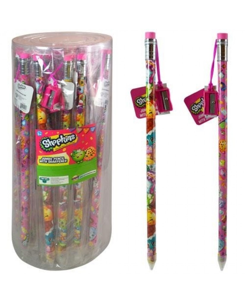 Shopkins Jumbo Pencil with Sharpener