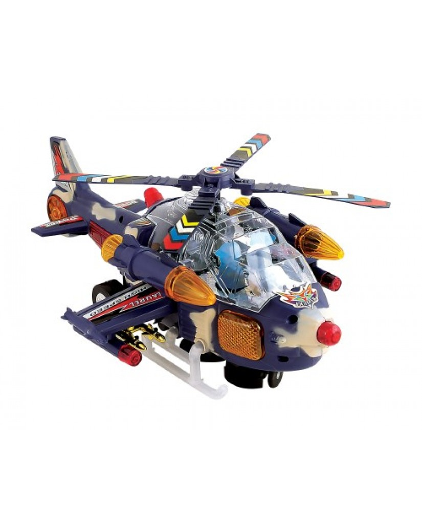 "12"" Bump 'N Go Gray Camo Helicopter"