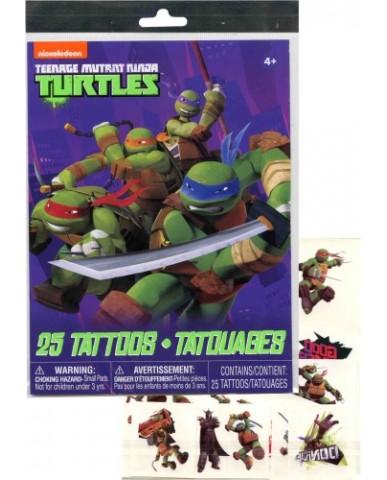 TMNT 25pc Tattoo Sheet