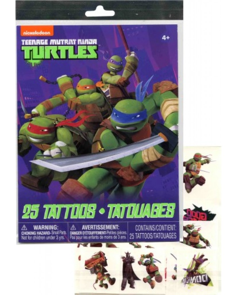 TMNT 25pc Tattoo Sheet