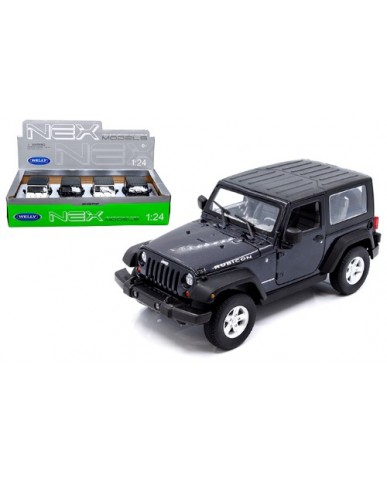 "7"" Black & White Jeep Wrangler Rubicon"