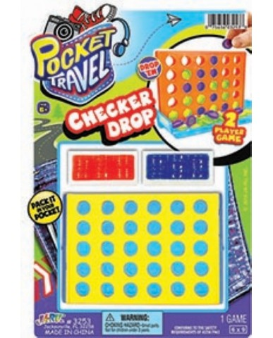 Checker Drop Travel Game
