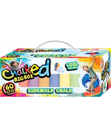 60 Stix Sidewalk Chalk Box