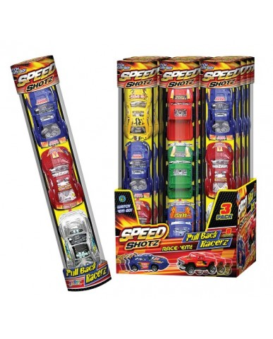 Speed Shotz 3 pk. Pullback Racers
