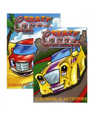96-pg Crazy Carzzz Coloring Book