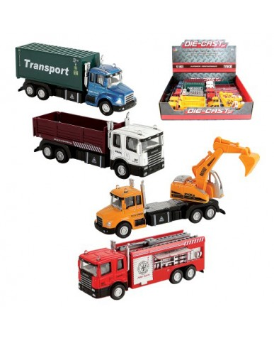 "6"" Die Cast Trucks & Transport Vehicles"