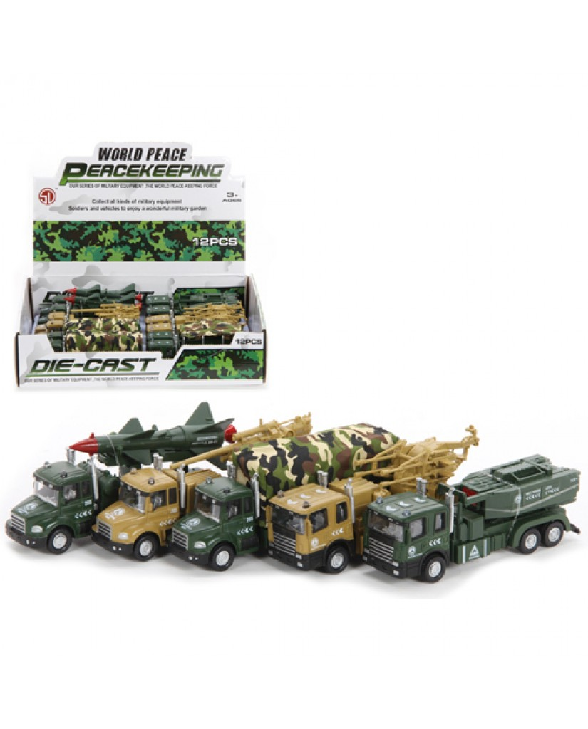 "5.5"" Die Cast Army Trucks"