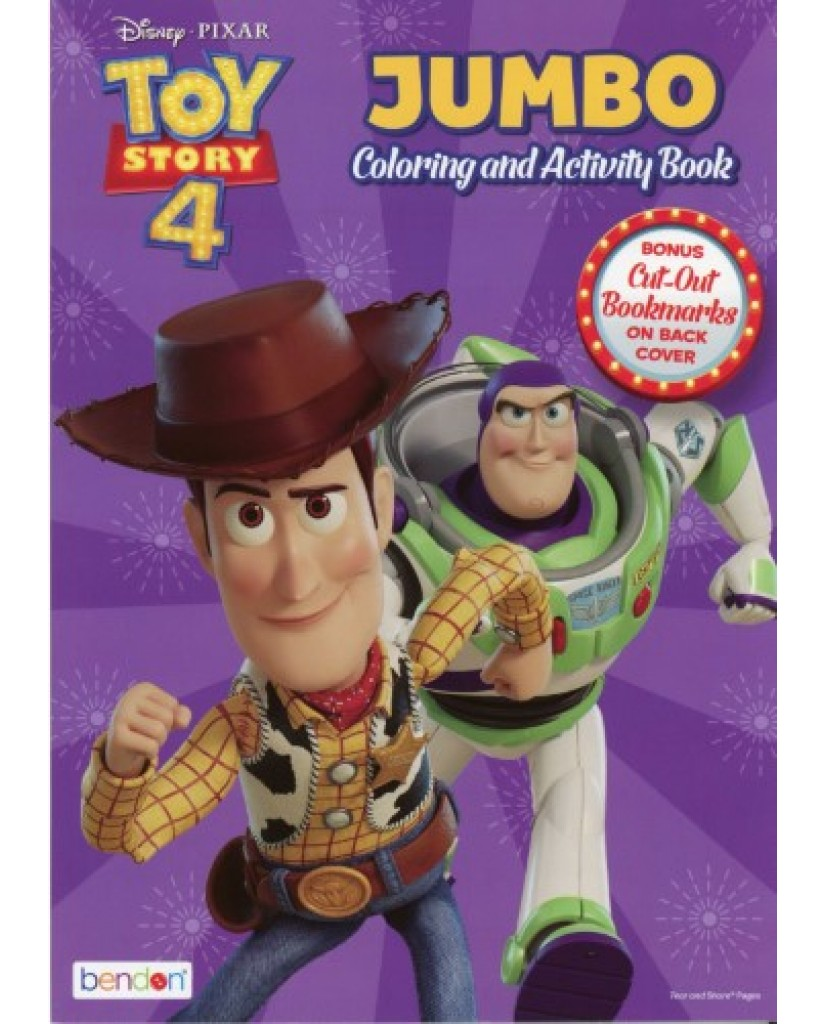 Toy Story 4 Jumbo Coloring Book