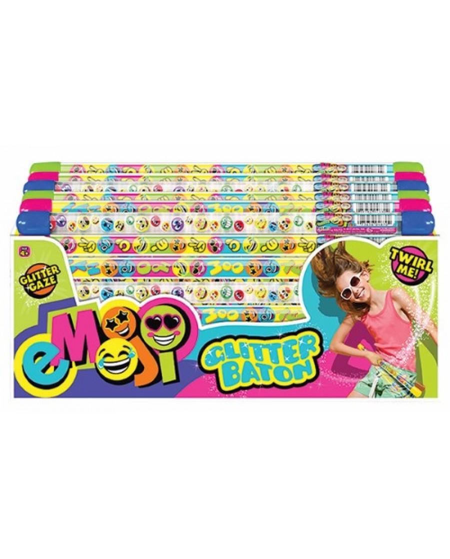 "11"" Emoji Glitter Baton"