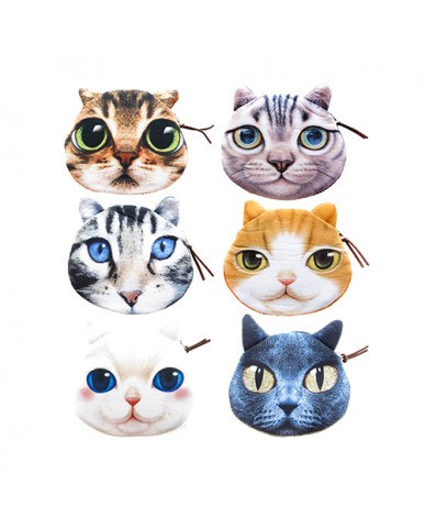 "4.5"" Cat Faces Coin Purse"