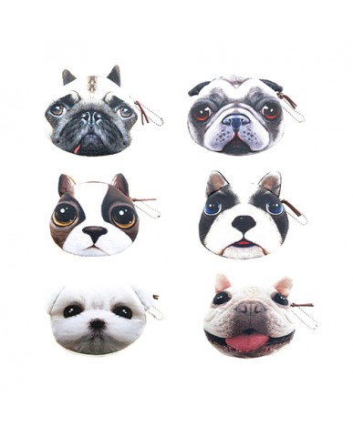 "4.5"" Dog Faces Coin Purse"