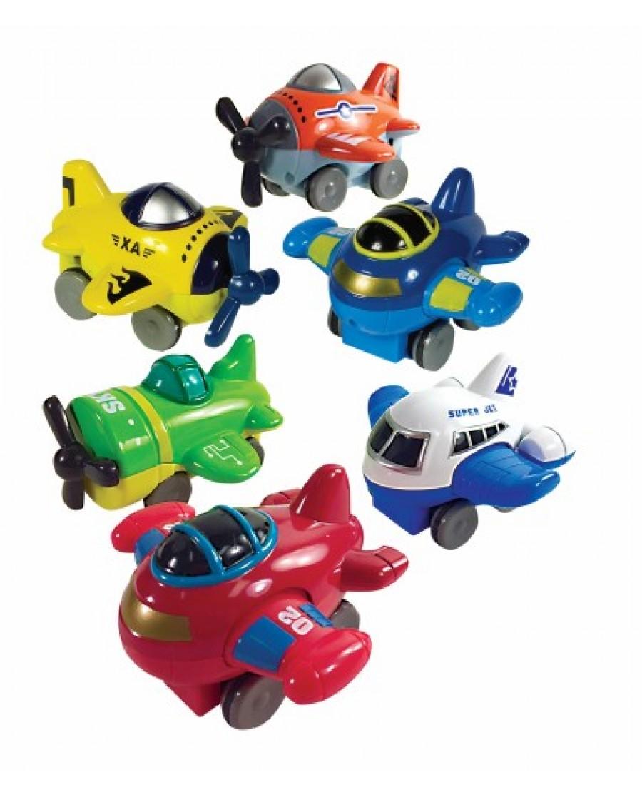 "3"" - 4"" Mini Aero Friction Die Cast Plane"