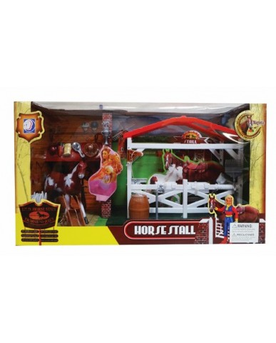 Light & Sound Horse Stall Play Set