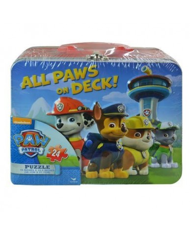 Paw Patrol Embossed Tin with 24 pc Puzzle