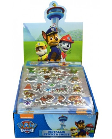 Paw Patrol Foil Puffy Stickers