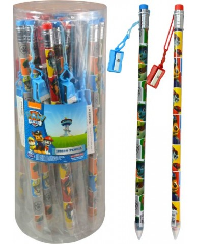 Paw Patrol Jumbo Pencil with Sharpener