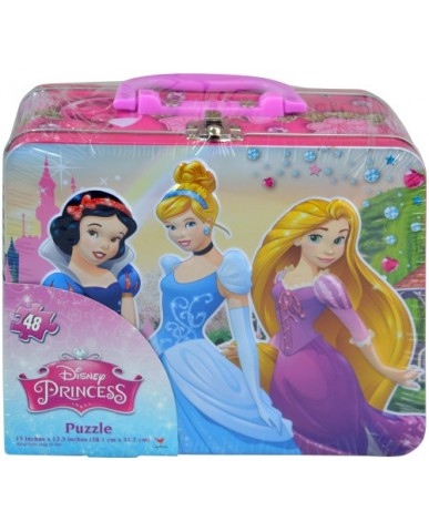 Princess Embossed Tin with 48 pc Puzzle