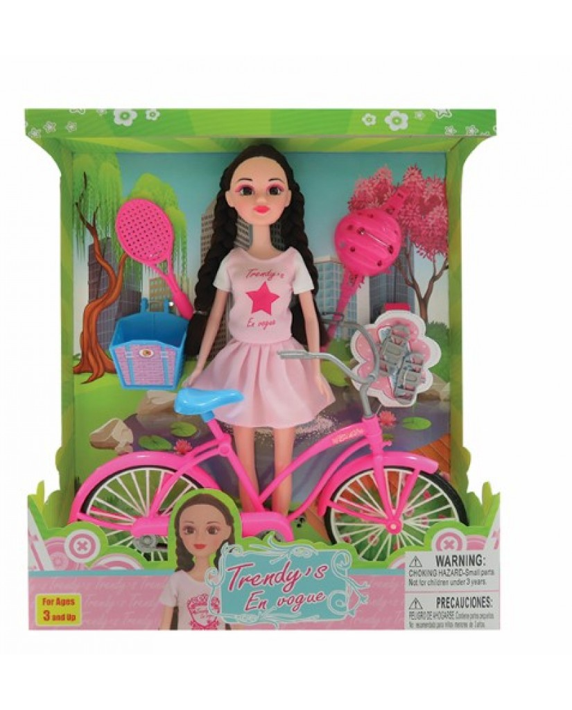 "12"" Doll with Bike & Accessories"