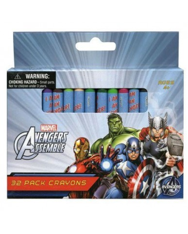 32-ct Avengers Crayons