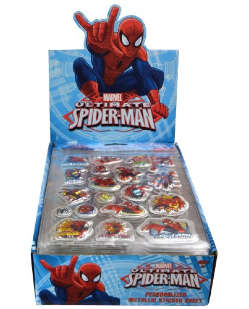 Spiderman Foil Puffy Stickers