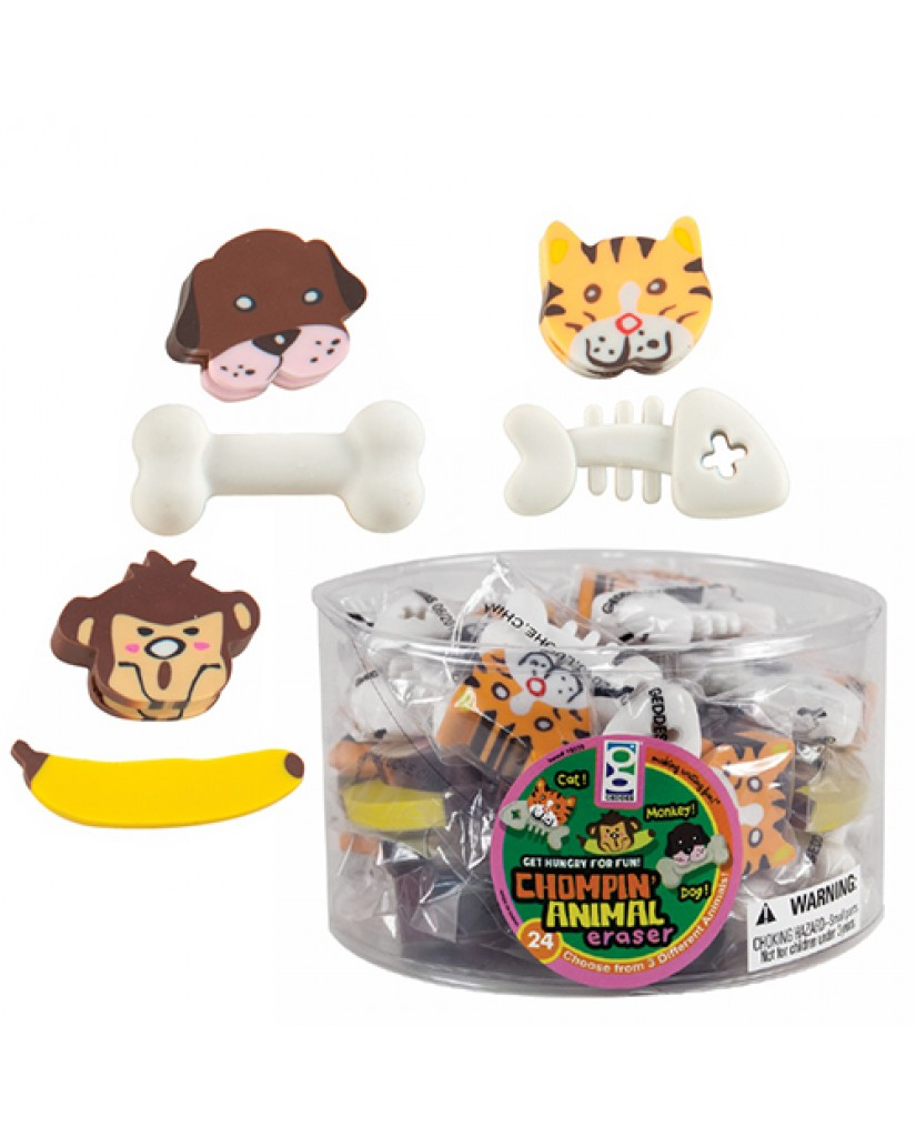 2-in-1 Chompin' Animal Eraser
