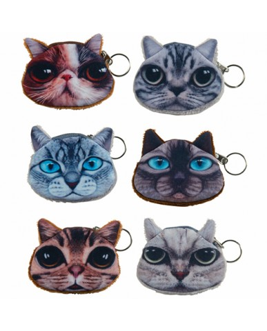 "2.5"" Purr-Fect Mini Pouch Key Rings"