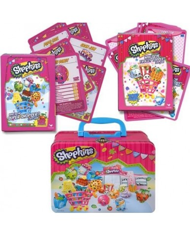 Shopkins Tin with 2 pk Card Games
