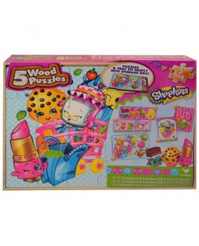 Shopkins 5pk Wood Puzzle