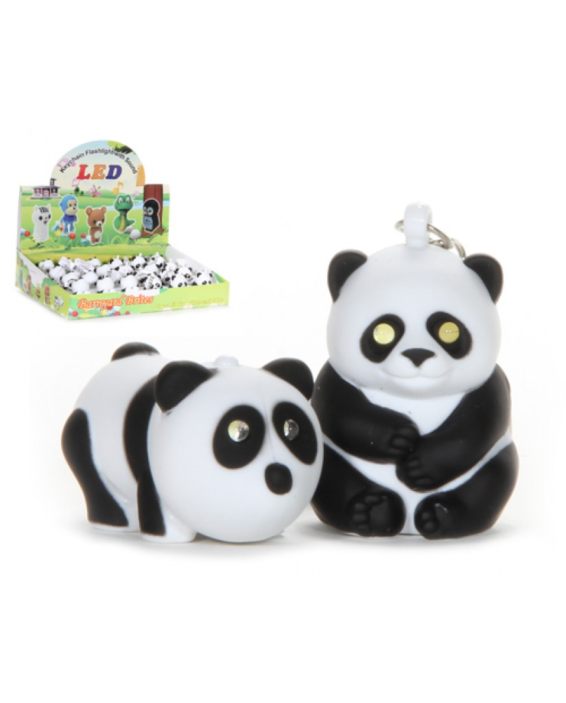 "2"" Light Up Panda Key Chain with Sound"